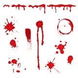 血液泼溅物 免版税图库摄影