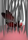 血液用尽的蚊子 向量例证