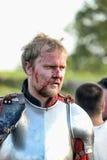 血液的受伤的骑士 库存图片