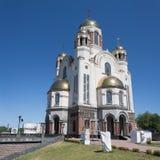 血液的大教堂,叶卡捷琳堡 库存照片