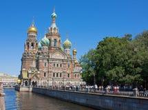 血液的,圣彼得堡救主 库存照片