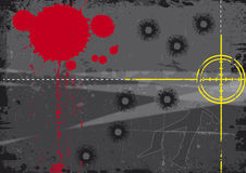 血液目标 免版税图库摄影
