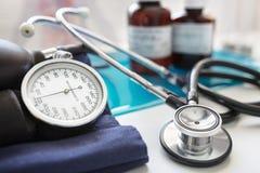 血液表压听诊器 免版税图库摄影