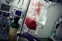血液袋子在病区里 免版税库存图片