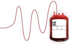 血液袋子捐赠 库存照片