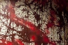 血液被弄脏的墙壁(伪造品) 库存图片