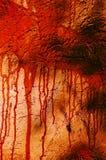 血液被弄脏的墙壁 免版税库存图片
