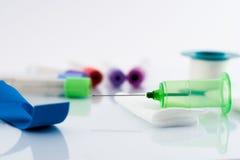 血液设备测试 免版税库存照片