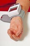 血液设备领退休金者压 库存照片
