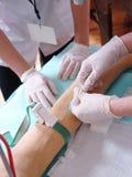 血液课程采取 免版税图库摄影