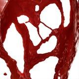 血液飞溅 免版税图库摄影