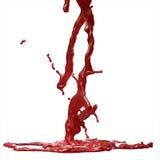 血液飞溅 库存图片