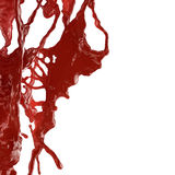 血液飞溅 图库摄影