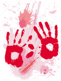 血液grunge纹理 库存图片