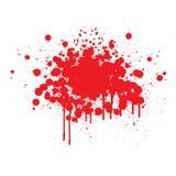血液splats 库存图片