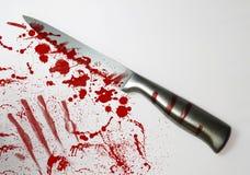 血淋淋的刀子 免版税库存照片