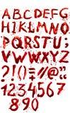 血淋淋的字母表(字体) 免版税图库摄影