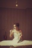 血淋淋的新娘 免版税图库摄影
