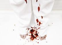 血淋淋的裤子 免版税图库摄影