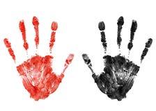 血淋淋的handprint 免版税图库摄影