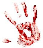 血淋淋的handprint 库存照片