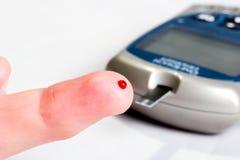 血糖级别测试 免版税图库摄影