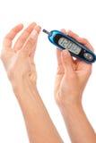 血糖级别评定的测试 免版税图库摄影