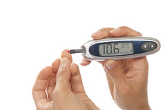 血糖级别评定的测试 库存照片