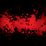 血红的横幅 库存图片