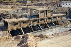 行业历史记录,被放弃的煤矿。 库存图片