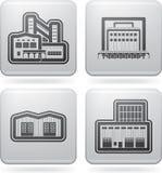 行业图标: 工厂 免版税图库摄影