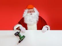 行业圣诞老人 免版税库存照片