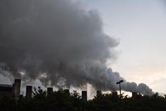 行业大气污染 免版税库存图片