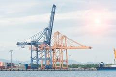 行业容器货物运费船 免版税图库摄影