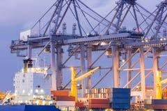 行业容器货物运费船 免版税库存图片