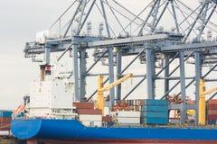 行业容器货物运费船 库存照片