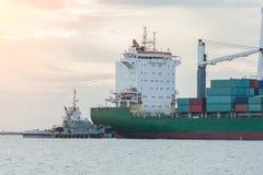 行业容器货物运费船 图库摄影