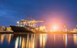 行业容器货物运费船 库存图片