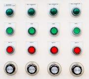 行业控制面板按钮 图库摄影