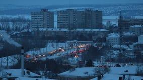 行业概念 居民住房 与很多汽车的交通 影视素材