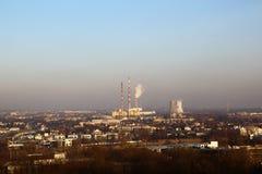 行业横向 克拉科夫,蓝天背景的波兰  库存图片
