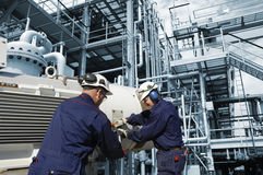 行业油工作 免版税图库摄影
