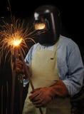 行业焊工 免版税库存图片