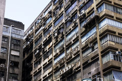 行业被放弃的大厦 库存照片