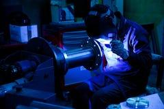 行业surrondings焊工工作 库存图片