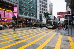 行人交叉路在香港 免版税图库摄影