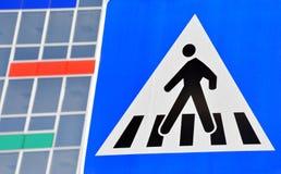 行人交叉路标志 库存照片