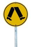 行人交叉路符号 库存照片