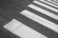 行人交叉路路标斑马 免版税库存照片