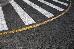 行人交叉路路标斑马 免版税库存图片